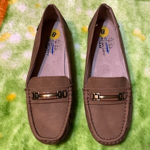 Life Stride Memory Foam brown loafers - 8